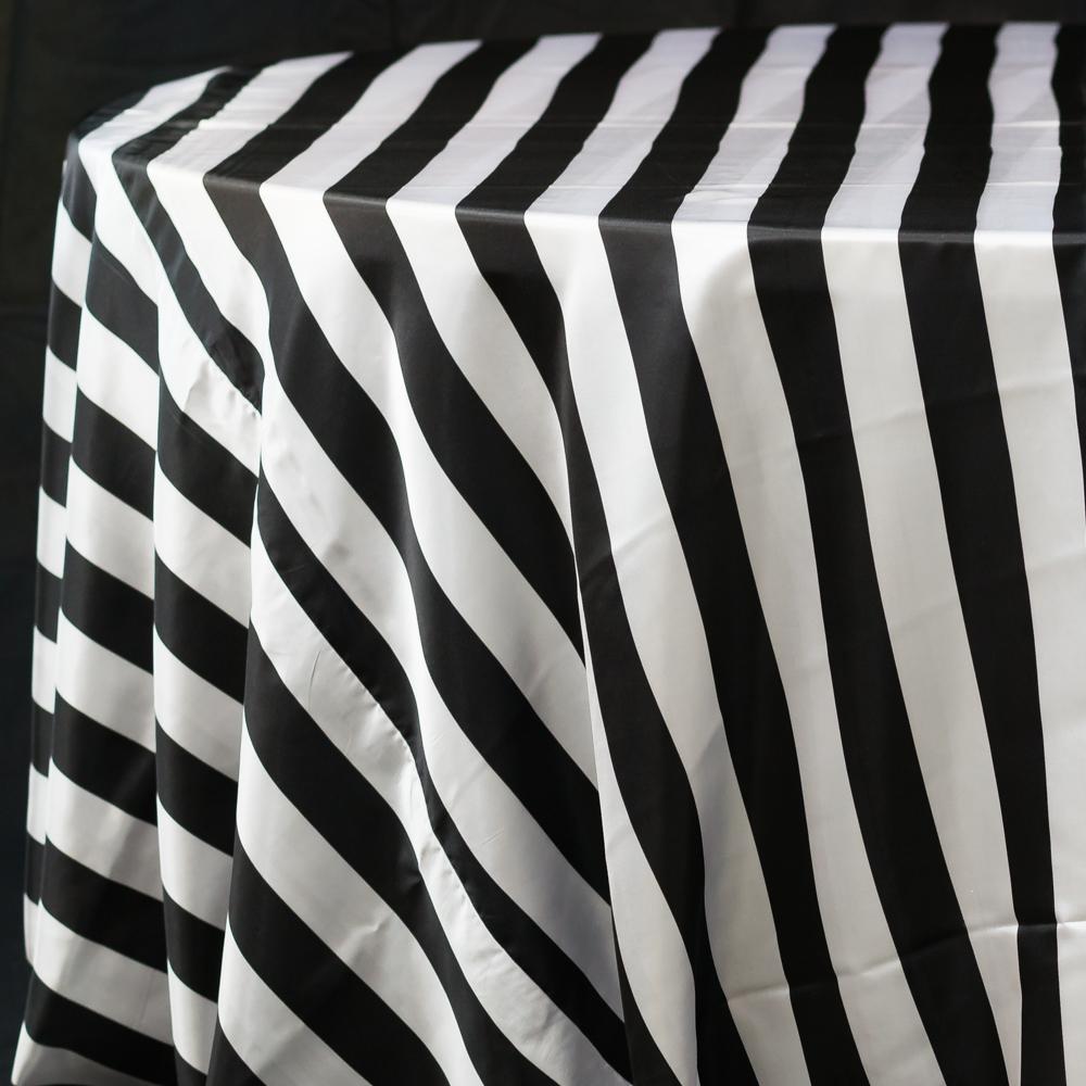 Black and White  Stripe Satin