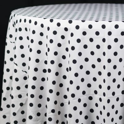 White With Black Dots